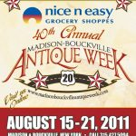 CENTRAL NEW YORK STATE GEARS UP FOR THE 40th ANNUAL MADISON-BOUCKVILLE ANTIQUE WEEK, SLATED FOR AUG. 15-21 IN BOUCKVILLE