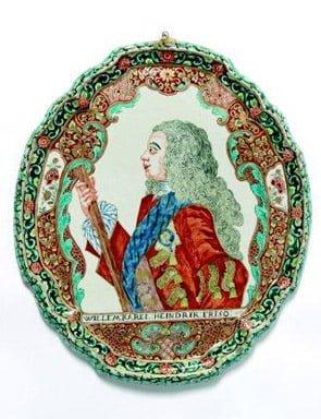Deflt Petit Feu plaque portraits