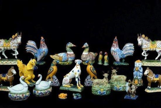 Dutch Delft animal figures