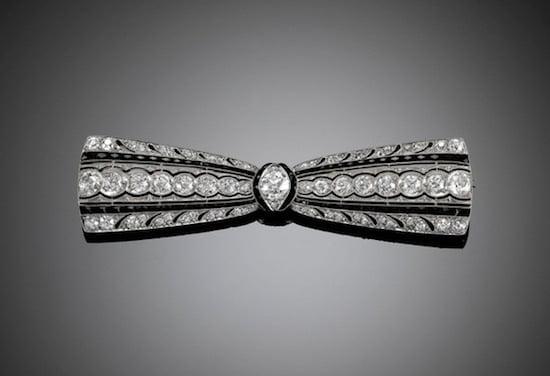 Greenleaf & Crosby diamond brooch
