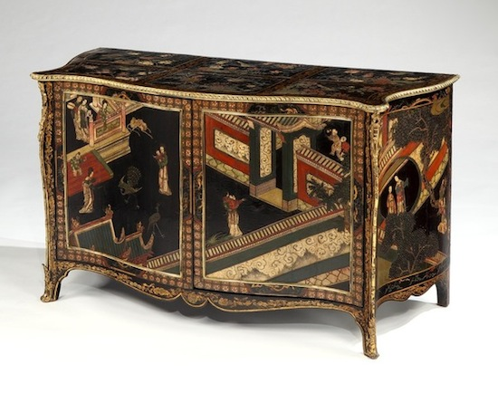 One of a pair of the Ragley Hall commodes (Kentshire)