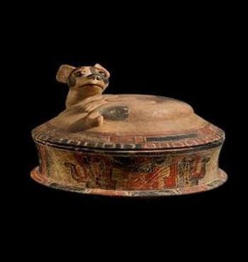 Mayan Dog Effigy Vessel