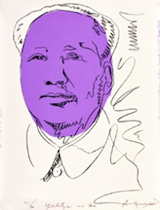 Andy Warhol (American, 1928-1987), 40.25 by 29.5-inch screenprint created for 1974 exhibition at Musee Galliera in Paris, hand-signed/inscribed by Warhol. Est. $20,000-$30,000. Palm Beach Modern Auctions image