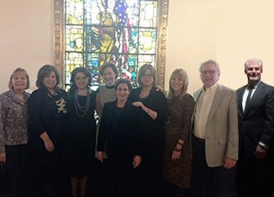 Organization leaders (from L to R) Edie Yeomans (ASA), Cindy Charleston Rosenberg (ISA), Betty Krulik (AAA), Deborah Spanierman (AAA), Linda Selvin (AAA), Lela Hersh (ASA), Christine Guernsey (ISA), Todd Sigety (ISA) and Jim Hirt (ASA)