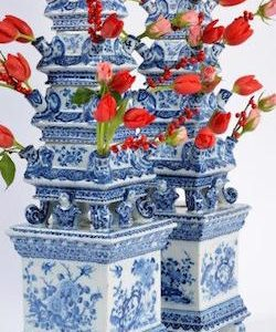 Aronson Antiquairs of Amsterdam will unveil Monumental 17th Century Delft Pyramidal Tulipieres at the WINTER ANTIQUES SHOW