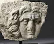 Roman marble relief of Medusa