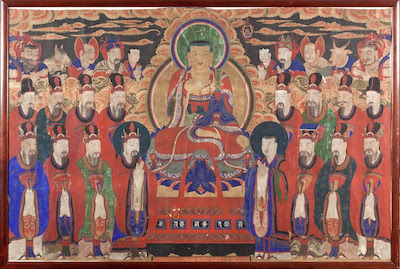 Bodhisattva Kshitigarbha and the Kings of Hell