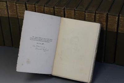 Signed collection of Mark Twain novels set for auction in Wolverhampton