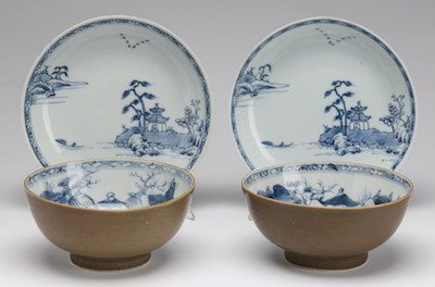 Blue and White Porcelain from Nanking Cargo for Auction Sale