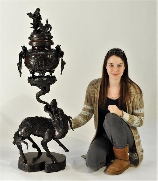 Japanese-Meiji-bronze-censer