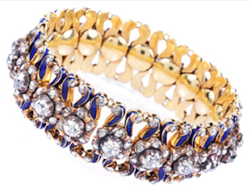 diamond and enamel bracelet